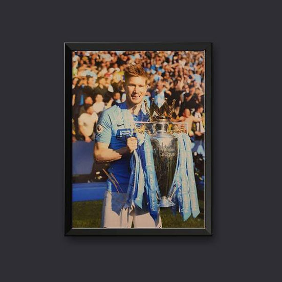 Kevin De Bruyne Signed Manchester City 16 x 12 Picture