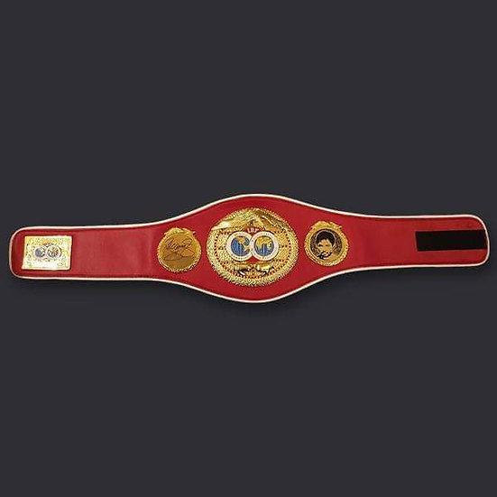 Manny Pacquiao Signed Full Size IBF Belt COA