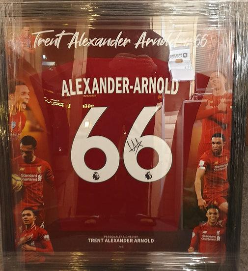 Trent Alexander-Arnold Artwork Liverpool Framed Signed Shirt 19/20