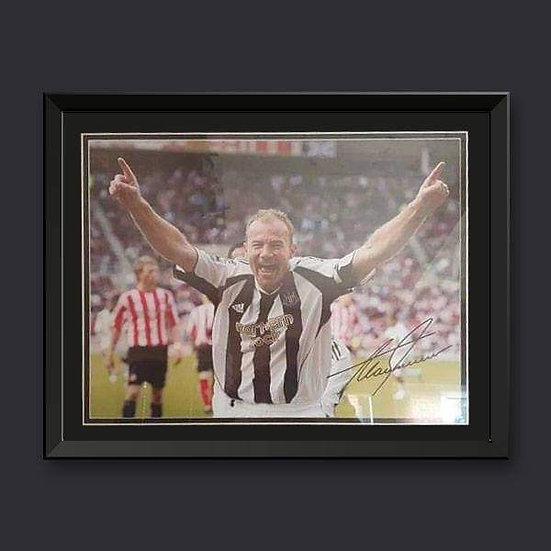 Alan Shearer Signed Newcastle United Montage Framed