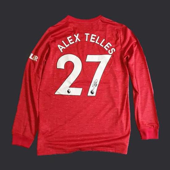 Alex Telles Manchester United Signed 20/21 Shirt