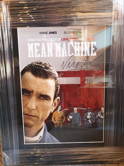 Framed Vinnie Jones &; Vas Blackwood Signed Mean Machine 16 x 12 Picture