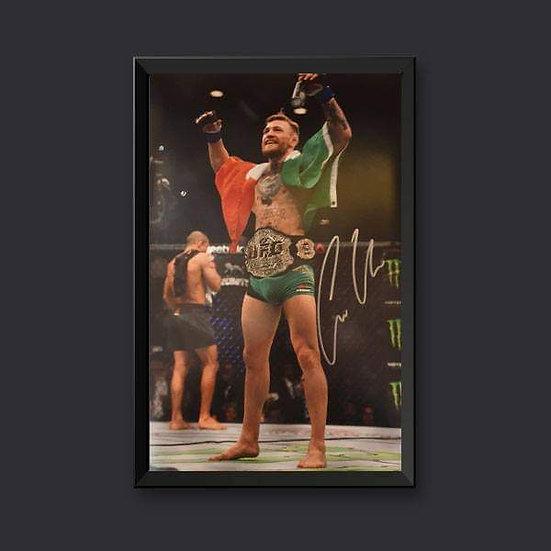 Conor McGregor UFC Signed Picture 18 x 12