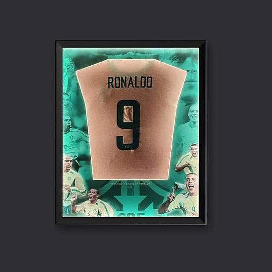 Illuminapp Framed Ronaldo R9 Signed Brazil Shirt Beckett Ltd Edition