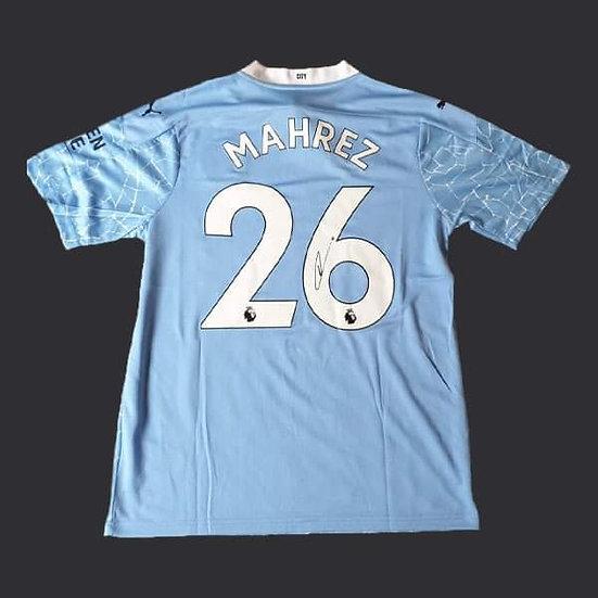 Riyad Mahrez Signed Manchester City 20/21 Shirt