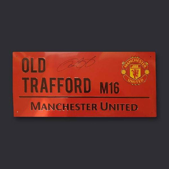 Ryan Giggs Manchester United Signed Road Sign