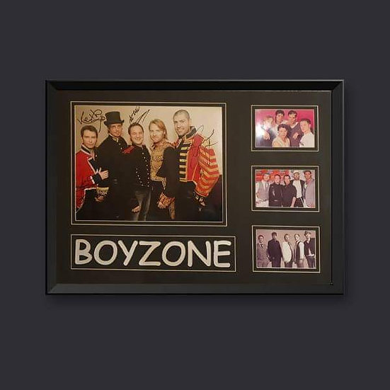 Boyzone Signed Picture Framed