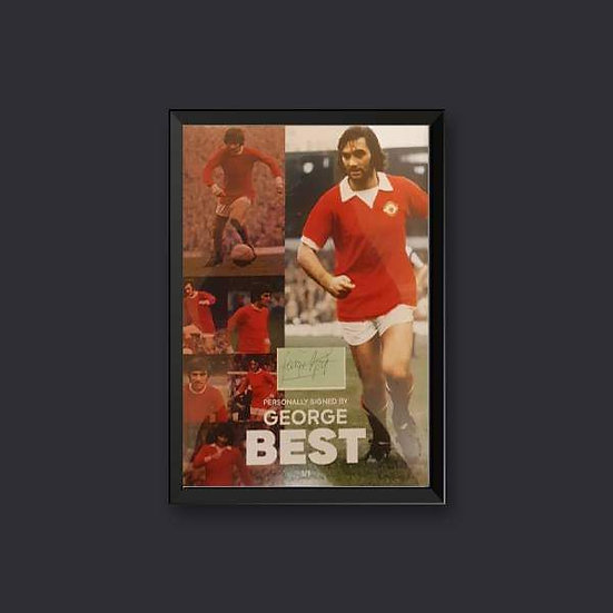 George Best Signed Ltd Edition Framed Manchester United Picture