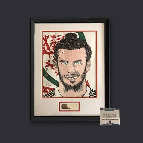 Gareth Bale Signed Wales Picture Framed