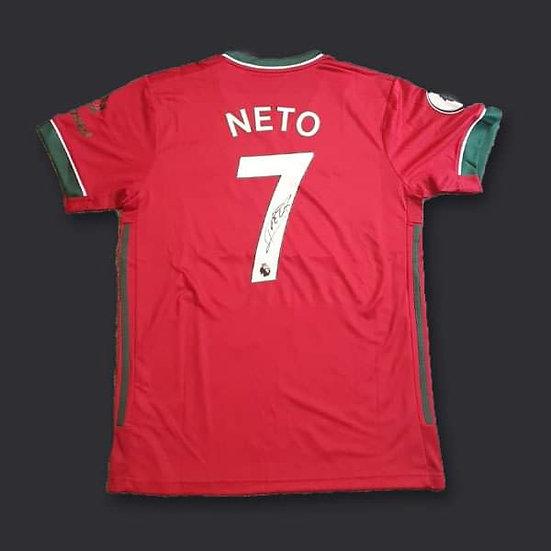 Pedro Neto Wolverhampton Wanderers Signed  20/21 Shirt