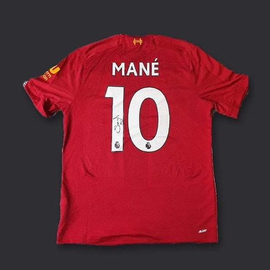 Saido Mane Liverpool Signed Shirt 19/20