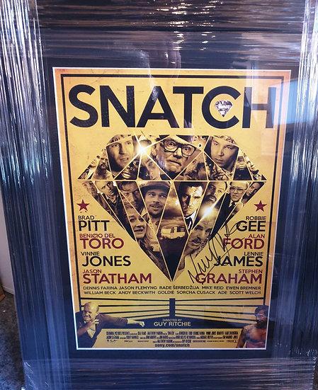 Framed Vinnie Jones Signed Snatch Picture