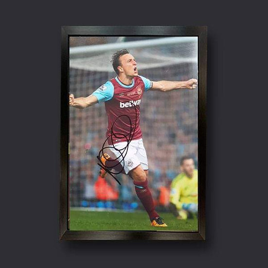 Mark Noble , 12 x 8 West Ham Signed Picture