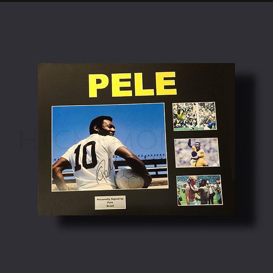Pele Brazil Signed Picture Framed