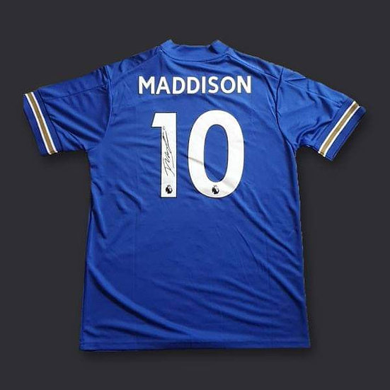 James Maddison Signed Leicester City 20/21 Shirt