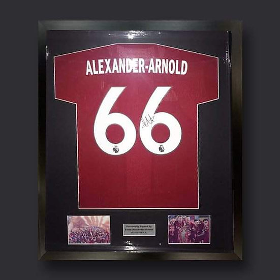 Trent Alexander-Arnold Liverpool Framed Signed Shirt 19/20