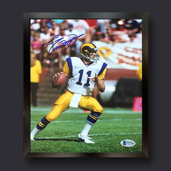 Jim Everett Signed Los Angeles Rams American Football Picture