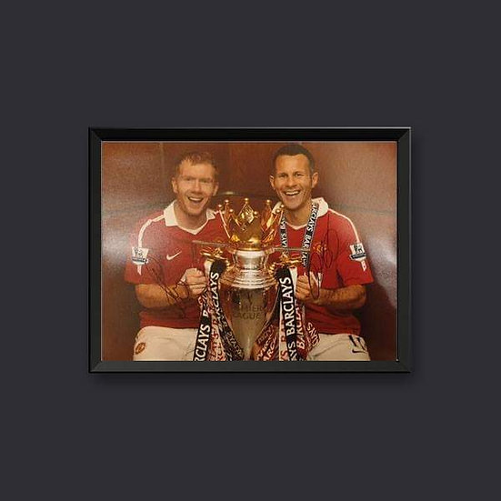 Paul Scholes & Ryan Giggs Manchester United Signed 16 x 12 picture