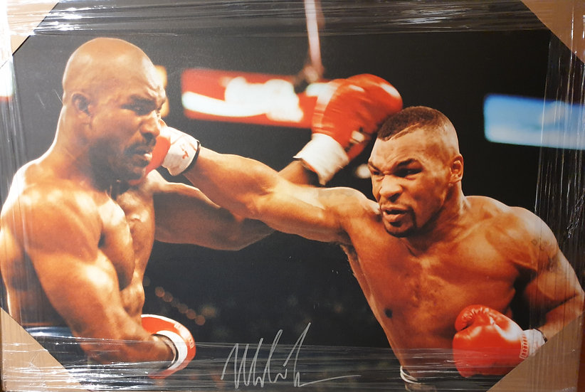 Mike Tyson Signed Canvas