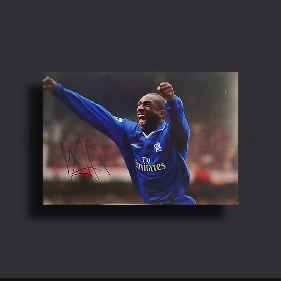Jimmy Floyd Hasselbaink Chelsea Signed Picture