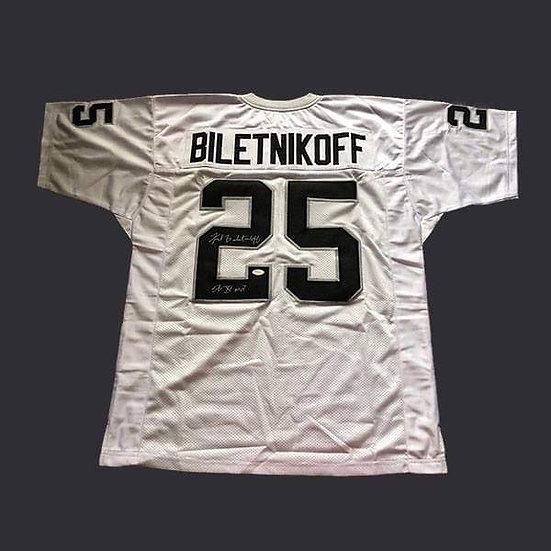 Fred Biletnikoff Signed Oakland Raiders NFL Jersey Shirt