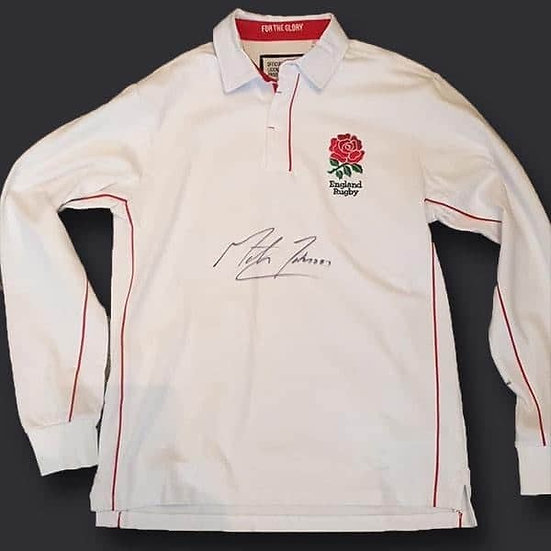 Martin Johnson England Rugby Signed Shirt