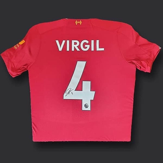Virgil Van Dijk Signed Liverpool 19/20 Shirt