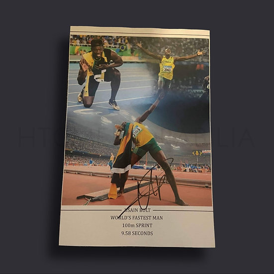 Usain Bolt Signed 16 x 12 Picture