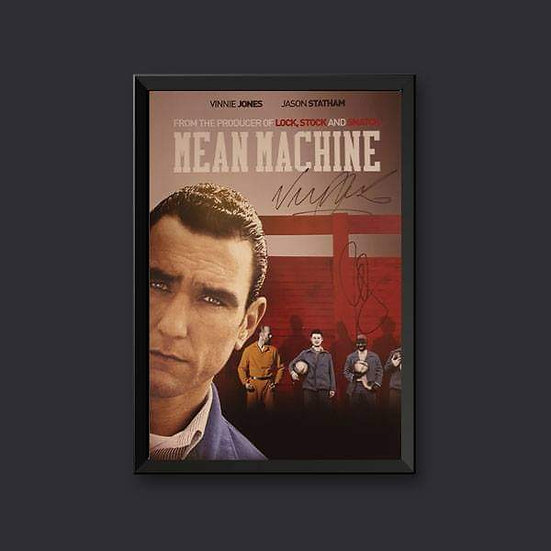 Vinnie Jones & Vas Blackwood Signed Mean Machine 16 x 12 Picture