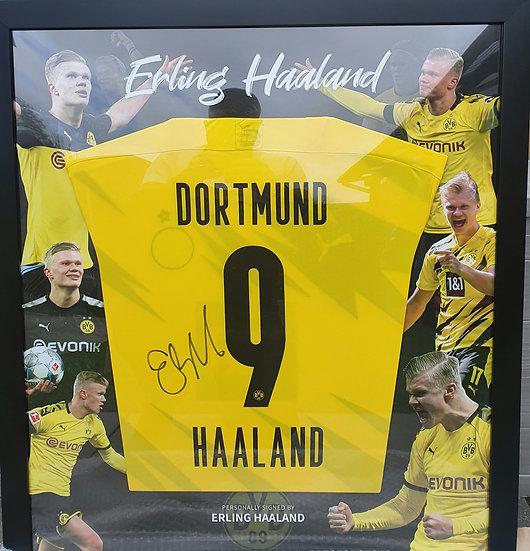 Erling Haaland Borussia Dortmund Framed Signed Shirt