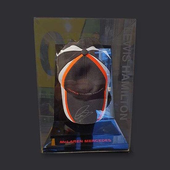 Lewis Hamilton Signed McLaren F1 Cap Cased