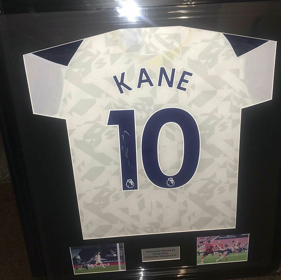 Framed Harry Kane Signed Tottenham Hotspur 20/21 Shirt