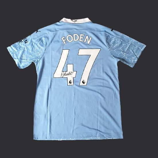Phil Foden Signed Manchester City 20/21 Shirt