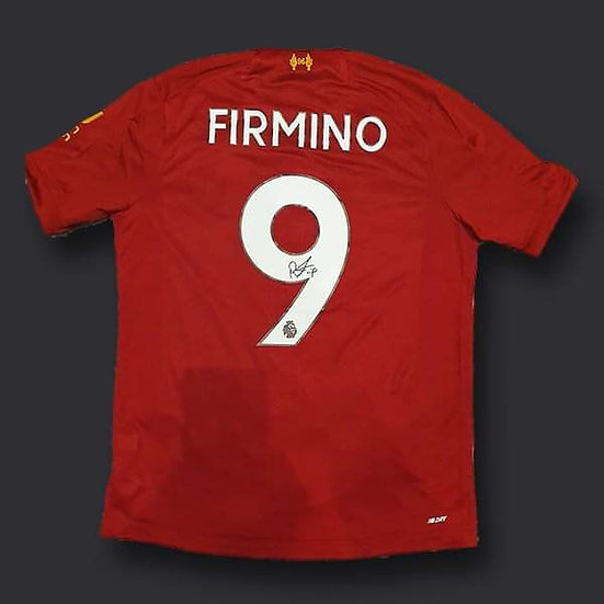 Roberto Firmino Liverpool Loose Signed Shirt 19/20