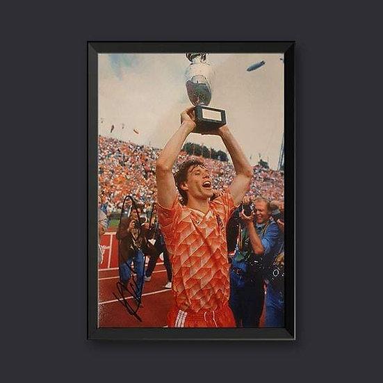 Marco van Basten, 12 x 8 Holland Signed Picture
