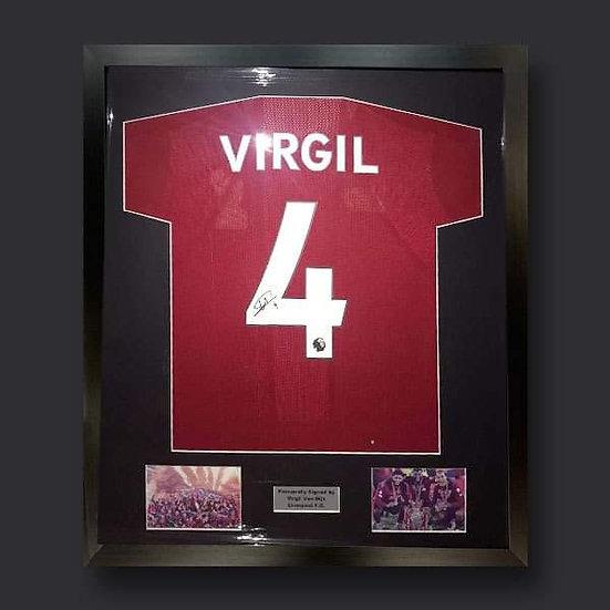 Virgil Van Dijk Signed Liverpool 19/20 Shirt Framed