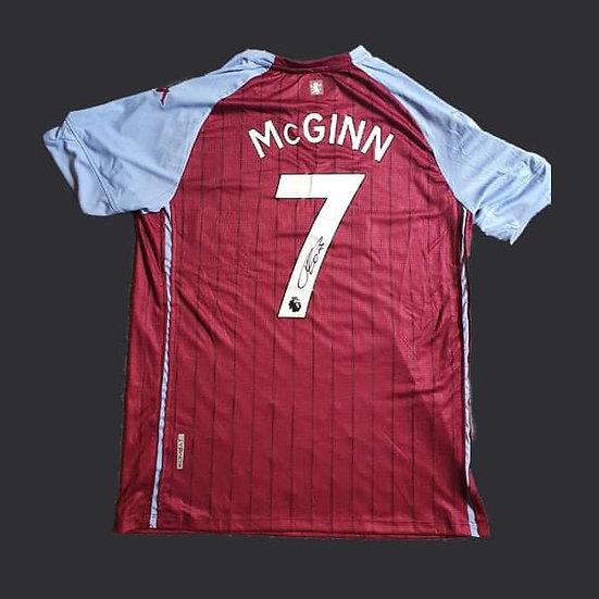 John McGinn Signed Aston Villa 20/21 Shirts