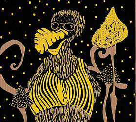Lino perdu Dodo jaune kraft.jpg
