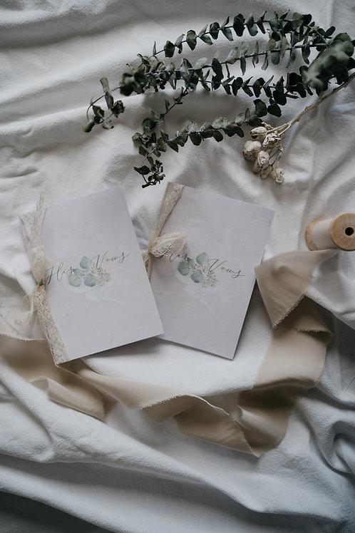 His and Her Vows Eheversprechen Klappkarten