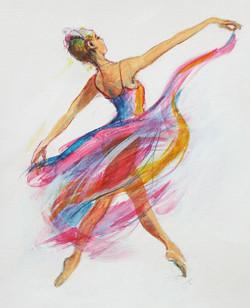 The Joy of Dance - Acrylic ink