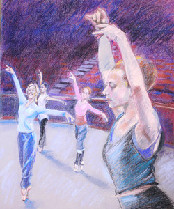 Ballet at the Hall - Pastel