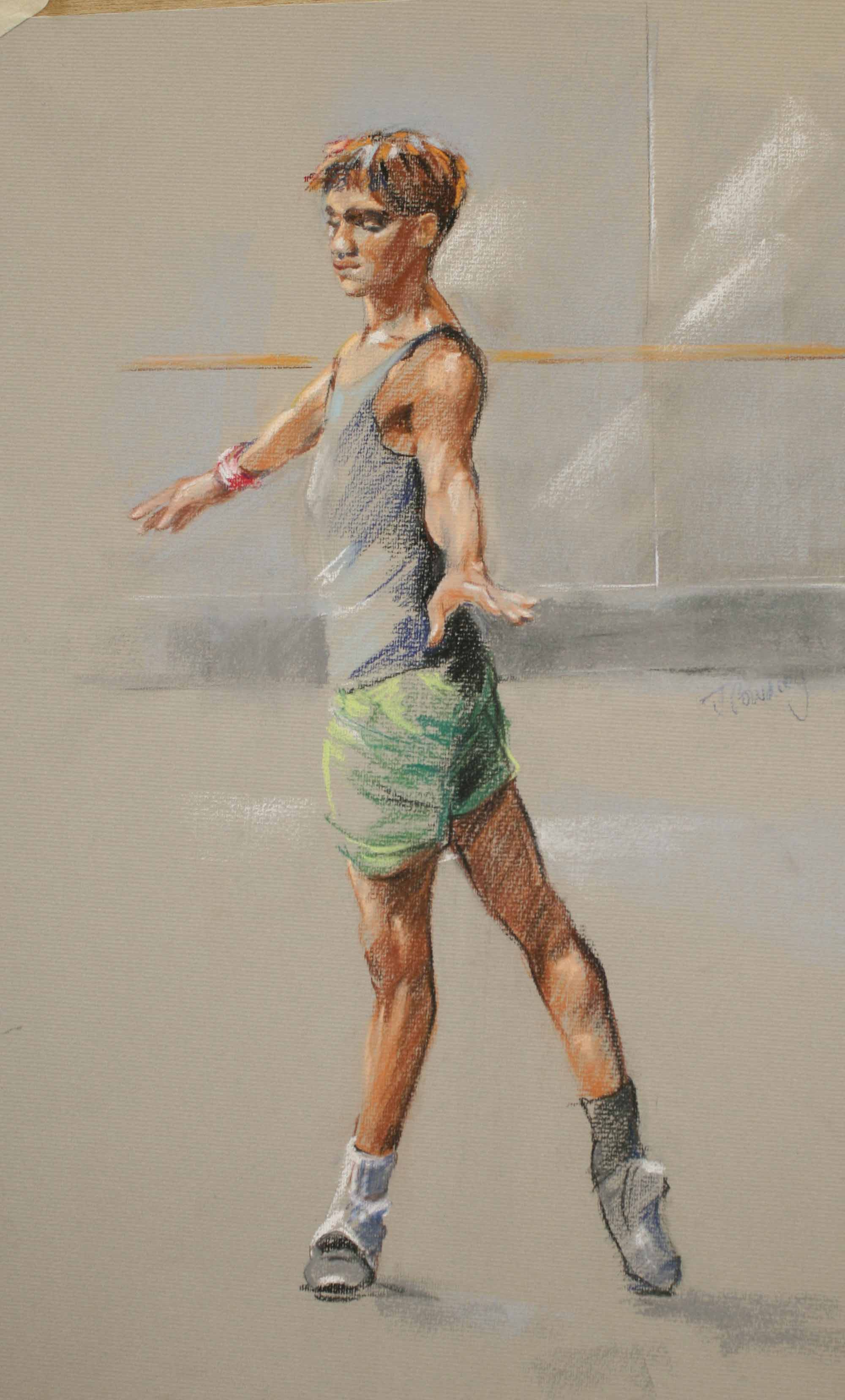 English National Ballet Dancer - Pastel