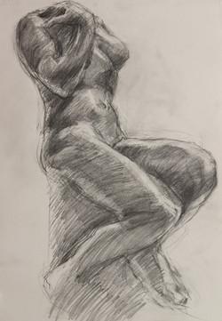 Cybele by Rodin - Pencil