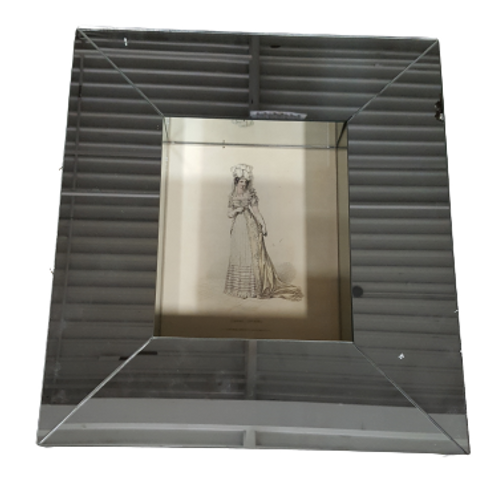 Lady IV - Giclee In Mirrored Frame