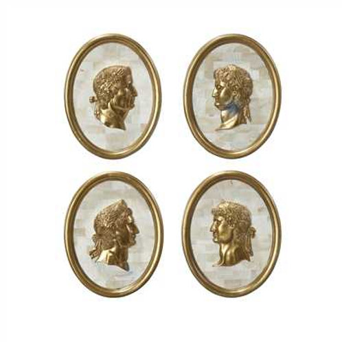 Set of 4 Bust on Stone Frame