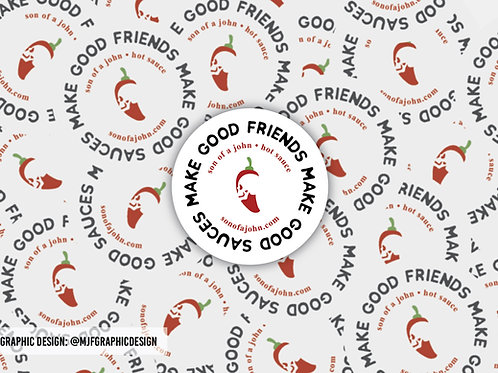 """2.5"""" Round Vinyl Slogan Sticker"""