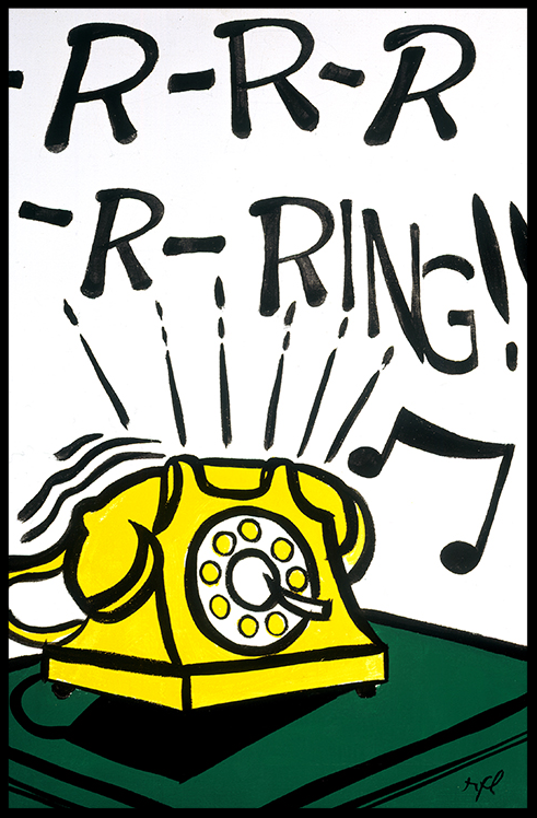 -R-R-R-R-Ring!! by Lichtenstein as inspiration for Onomatopoeia Art that Pops craft