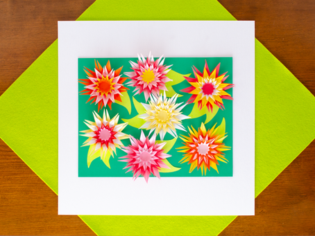 Paper Art Chrysanthemums