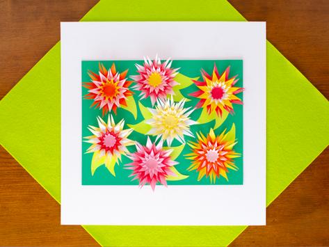 Paper Art Chrysanthemums