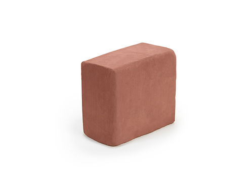 5 pound block of terra cotta all natural air-dry clay perfect for sculpting or hand modeling